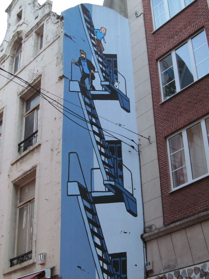Tintin art in Brussels, Belgium