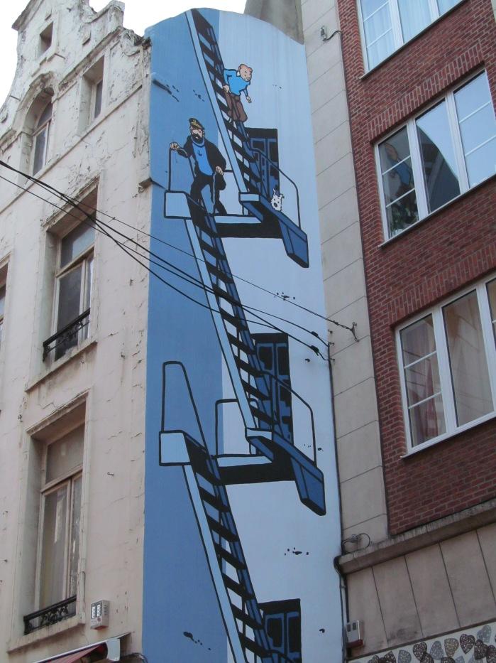 Tintin art in Brussels, Belgium