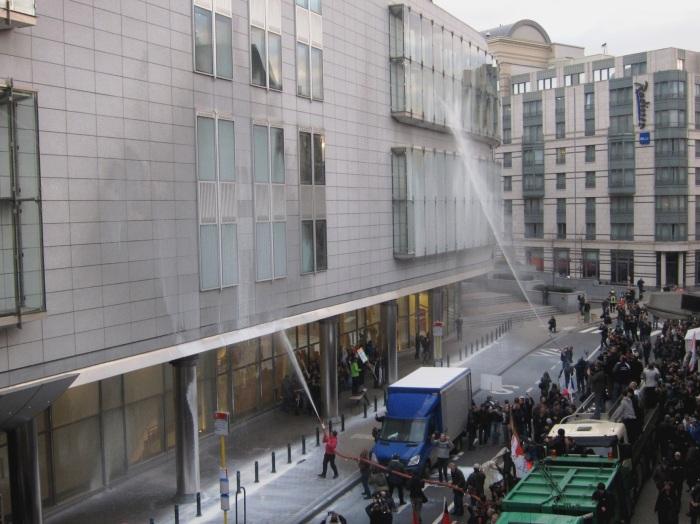 Farmer's Riot in Brussels