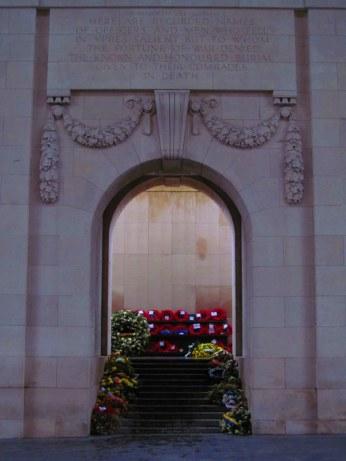 Menin Gate memorial in Ypres, Belgium