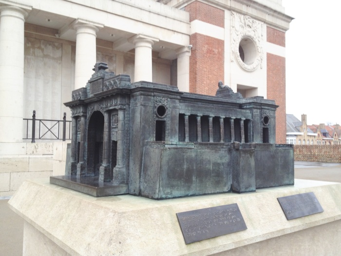 Menin Gate memorial in Ypres, Belgium