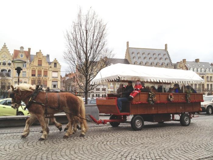 Christmas market in Ypres, Belgium