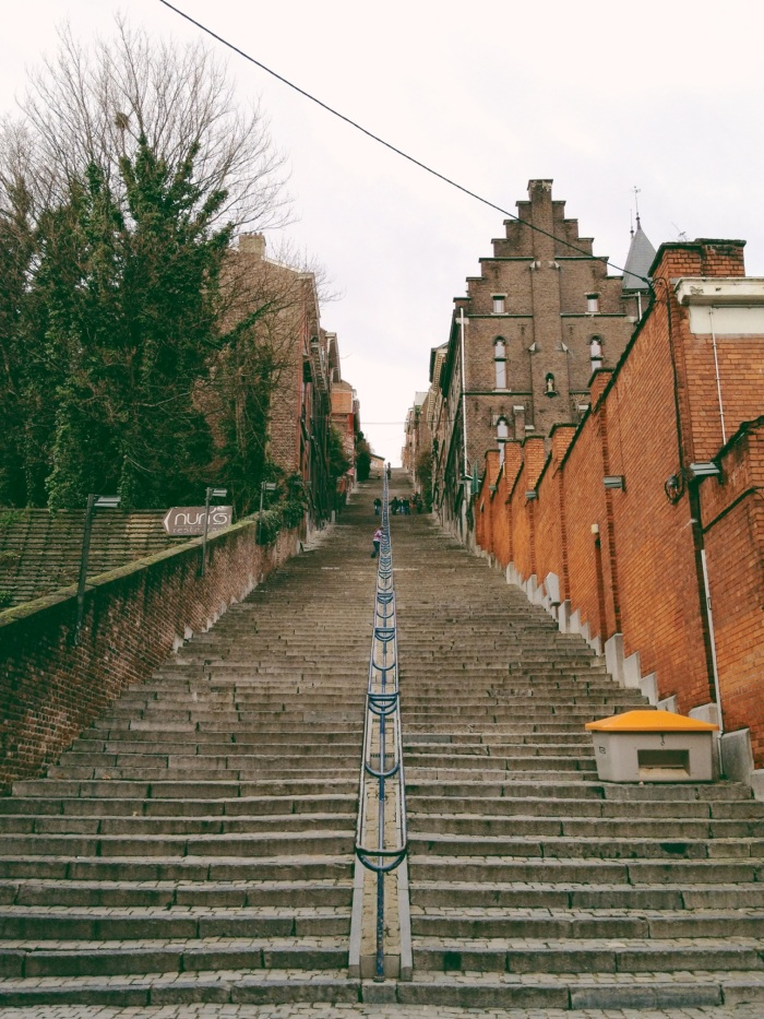 Stairway of the Montagne de Bueren, Liege, Belgium