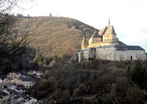 Castle of Vianden, Luxembourg via MontgomeryFest