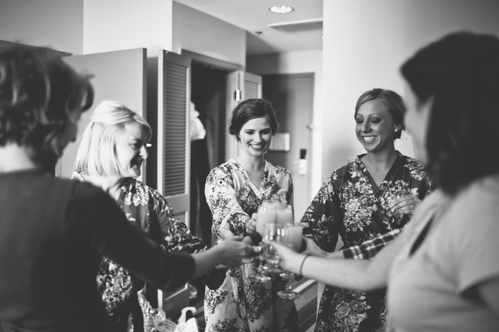 With her bridesmaids via MontgomeryFest | Photography by Taylor Lord Photography