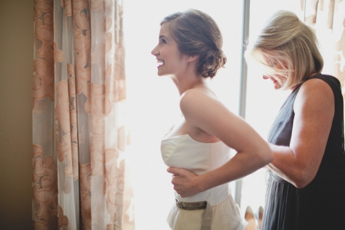 The bride getting ready via MontgomeryFest | Photography by Taylor Lord Photography