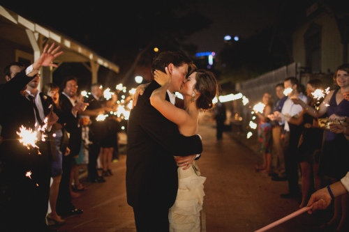 Sparkler exit via MontgomeryFest | Photography by Taylor Lord Photography | Planning by After Yes