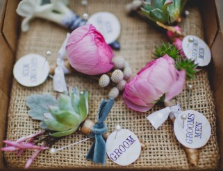 Boutonnières via MontgomeryFest | Photography by Taylor Lord Photography | Florals by Bows and Arrows