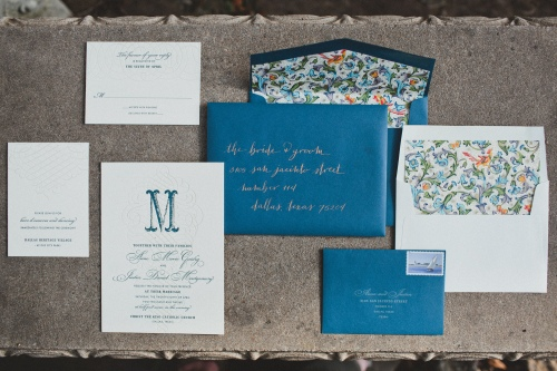 Invitations via MontgomeryFest | Photography by Taylor Lord Photography | Letterpress by Elum Designs | Envelope calligraphy by The Left Handed Calligrapher