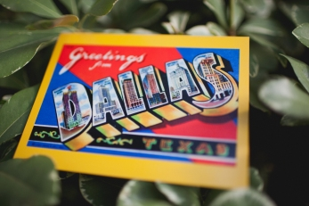Dallas postcard favor via MontgomeryFest | Photography by Taylor Lord Photography