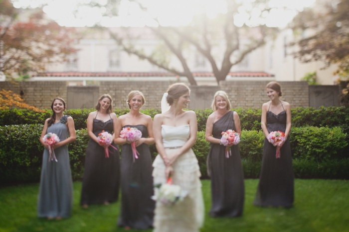 The bride and her maids via MontgomeryFest | Photography by Taylor Lord Photography | Florals by Bows and Arrows