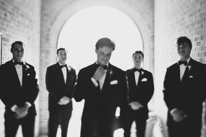 The groom with his men via MontgomeryFest | Photography by Taylor Lord Photography | Florals by Bows and Arrows
