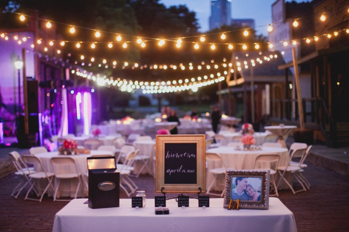 Welcome shot at Dallas Heritage Village via MontgomeryFest | Photography by Taylor Lord Photography | Calligraphy by The Left Handed Calligrapher | Planning by After Yes