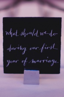Guest book alternative - Questions via MontgomeryFest | Photography by Taylor Lord Photography | Calligraphy by The Left Handed Calligrapher