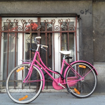 Pink bicycle via MontgomeryFest