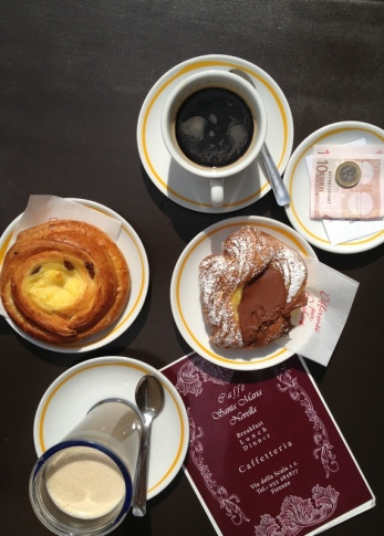Typical breakfast in Florence, Italy via MontgomeryFest