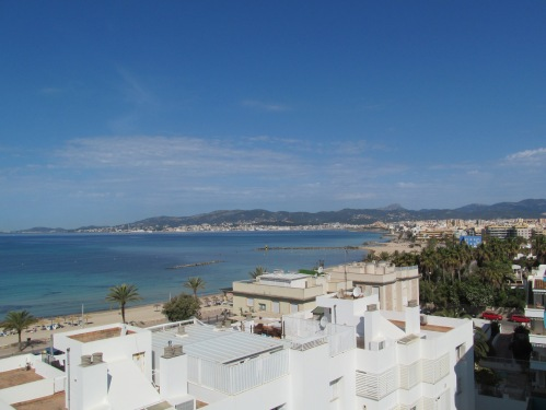 Rooftop view of Palma de Mallorca beach via MontgomeryFest