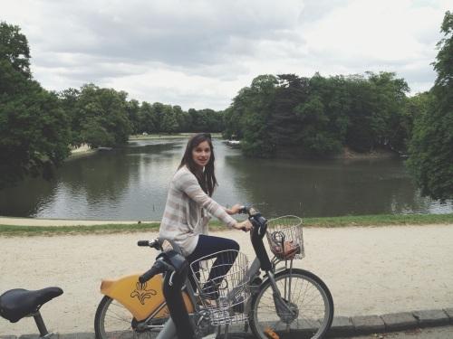 Bicycling in Bois de la Cambre, Brussels, Belgium