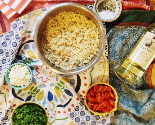 Mediterranean Quinoa Salad via MontgomeryFest